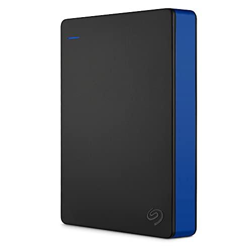 Seagate Game Drive for PS4, 4 TB, Unidad de disco duro externa, HDD portátil, compatible con PS4 y...