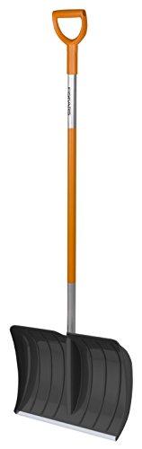 Fiskars SnowXpert Pala de empuje, Para pequeñas y grandes cantidades de nieve, Ancho de pala: 52...