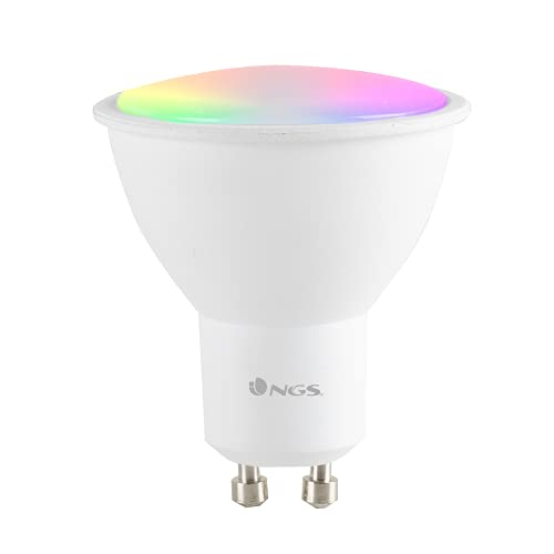 NGS GLEAM510C - Bombilla LED Wi-Fi con Colores Regulables RGB+W, Bombilla Inteligente Spot Foco 5W...