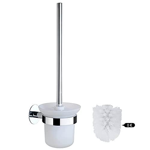 DUFU Escobilla de Baño WC y Portaescobillas de Inodoro, Juego de Escobillas de Baño con Mango de...