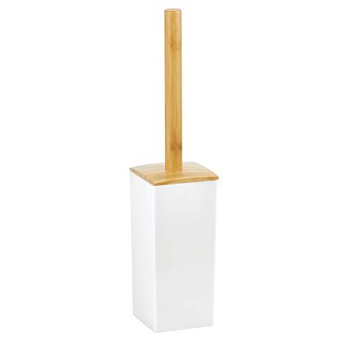mDesign Moderna escobilla para inodoro – Portaescobillas independiente para el cuarto de baño y...