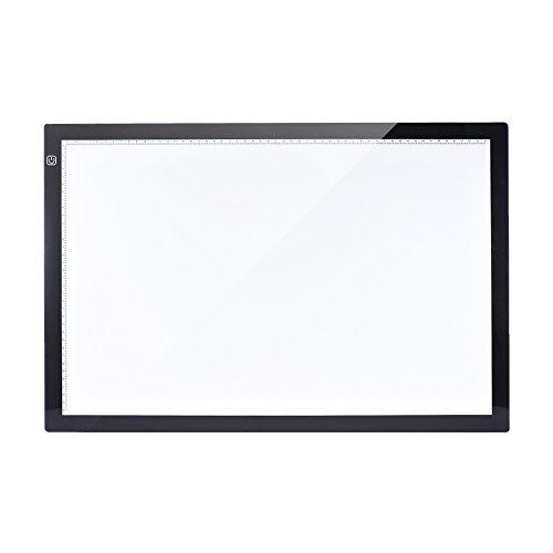 Aibecy Mesa de Luz Tableta Caja Dibujo A2 LED Portátil para calcar de Art Display Tablero del panel...