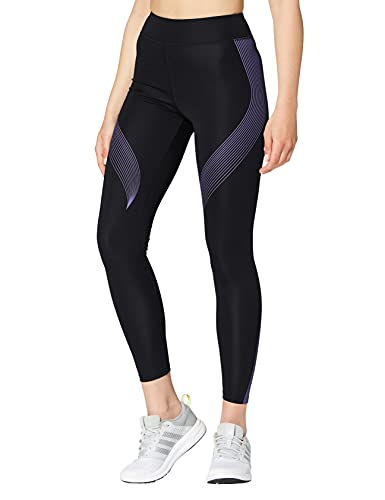Marca Amazon - AURIQUE Bal181la18 - leggings deporte mujer Mujer, Negro (Black/Dahlia Purple), 34,...