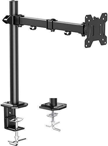 Brazo de Monitor Individual HUANUO, Base de Monitor de Altura Ajustable para Pantallas LCD LED de...