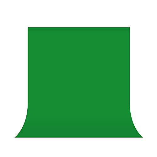 UTEBIT Pantalla Verde,5x7ft/1.5x2m 100% Poliéster Fondo Fotográficos Toma de Green Screen Soporte...
