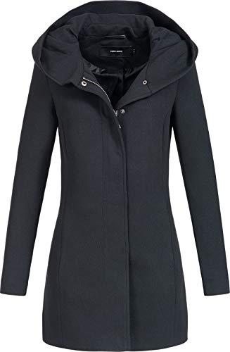 Vero Moda Vmverodona LS Jacket Noos Abrigo, Negro (Black Black), 38 (Talla del fabricante: Small)...