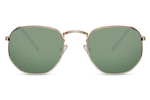 Cheapass Gafas de Sol Gafas Hexagonales Espejadas y Cristalse Normales Hombre Mujer Protección...