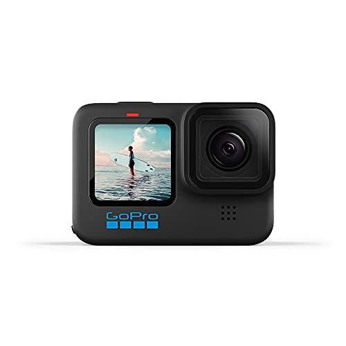 GoPro HERO10 Black - Cámara de acción a Prueba de Agua con LCD Frontal y Pantallas traseras...