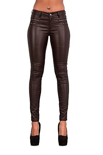 Leggings ajustados para mujer, con aspecto de cuero, tallas 34, 36, 38, 40, 42