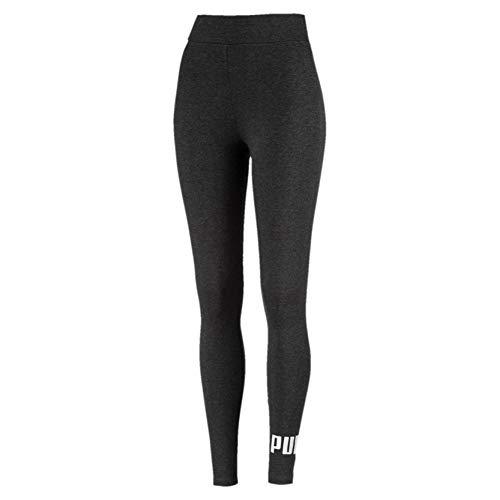PUMA ESS Logo Leggings Pants, Mujer, Dark Gray Heather, XS