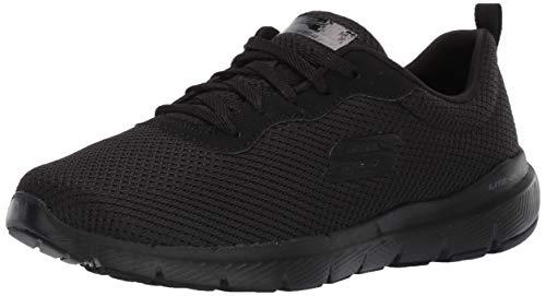 Skechers Flex Appeal 3.0-First Insight, Zapatillas Mujer, Negro (BBK Black Mesh/Trim), 35 EU