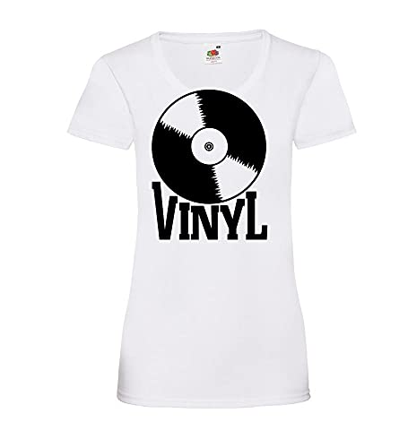 Shirt84.de - Camiseta de manga corta para mujer (vinilo) Blanco L