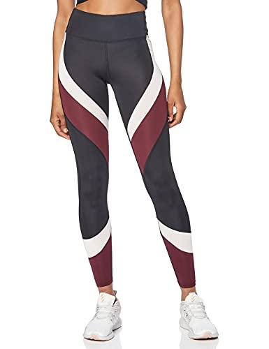 Aurique Leggings deportivos para Mujer, Negro (Black/Port Royale/Blush), XXS