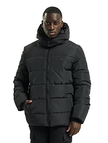 Urban Classics Hooded Puffer Jacket With Quilted Interior, Chaquetón De Invierno Con Cremallera Y...