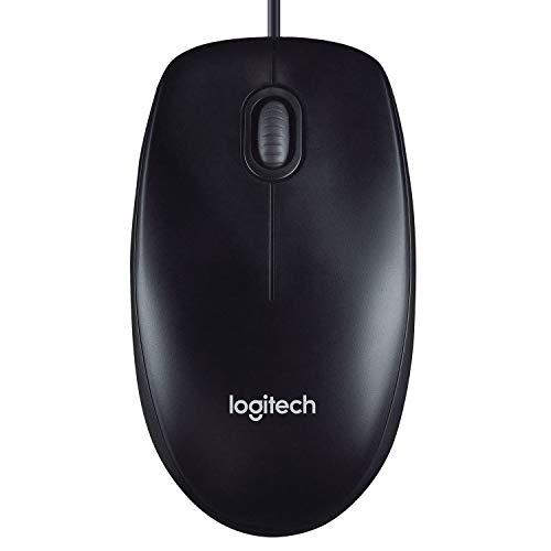 Logitech M90 Ratón con Cable USB, Seguimiento Óptico 1000 DPI, Ambidiestro, PC, Mac, Portátil,...