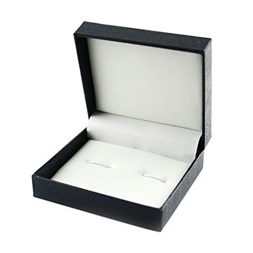 Kentop Estuche de joyería de Plástico para Gemelos Caja Joyero Caja de Regalo,7 * 8 * 3CM
