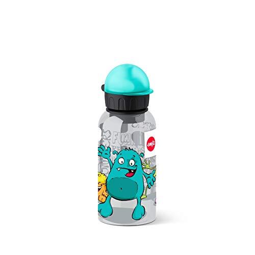 Emsa 518123 - Botella hermética con diseño de Monstruo, Capacidad de 0.4 l, antiderrame con Piezas...