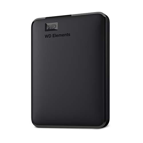 WD Elements - Disco duro externo portátil de 5 TB con USB 3.0, color negro