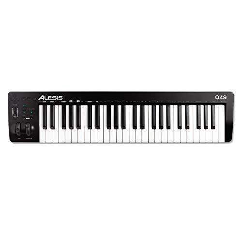 Alesis Q49 MKII - Teclado controlador MIDI USB con 49 teclas de acción sintetizador sensibles a la...
