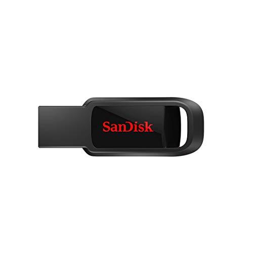 Memoria flash SanDisk Cruzer Spark USB 2.0 de 128 GB, Negro
