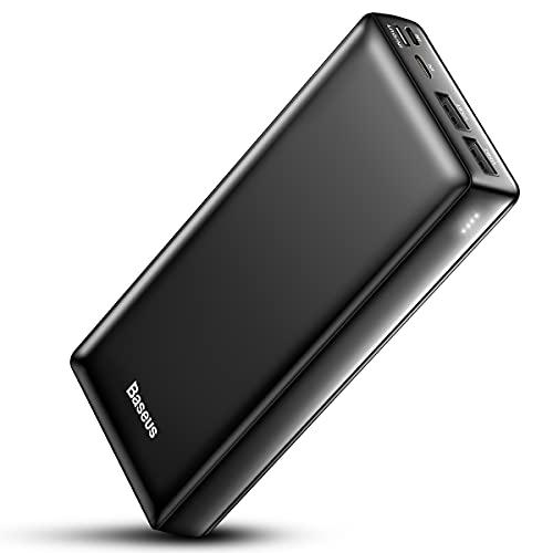 Baseus Batería Externa Movil 30000mAh, Cargador Portátil de Carga Rápida Power Bank USB C para...
