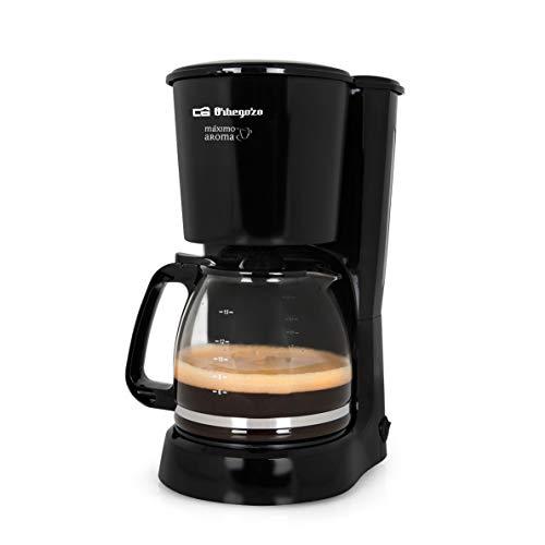 Orbegozo CG 4024 - Cafetera goteo, capacidad para 15 tazas, jarra de crital de 1,6 litros, 800 W de...