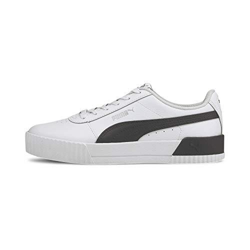 PUMA Carina L, Zapatillas Mujer, White Black Silver, 36 EU