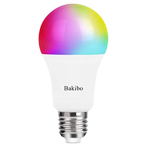 bakibo Bombilla LED Inteligente WiFi Regulable 9W 1000 Lm Lámpara, E27 Multicolor Bombilla...