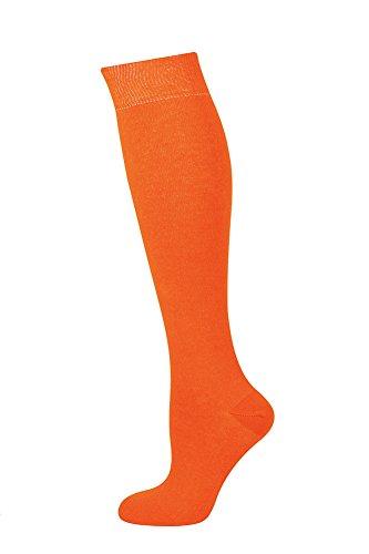 Mysocks calcetines largos lisos naranja