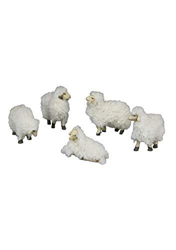 Woll Ovejas––Juego de 5piezas–Pesebre Figura