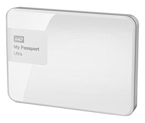 WD My Passport Ultra - Disco Duro Externo portátil de 500 GB (2.5', USB 3.0), Color Blanco
