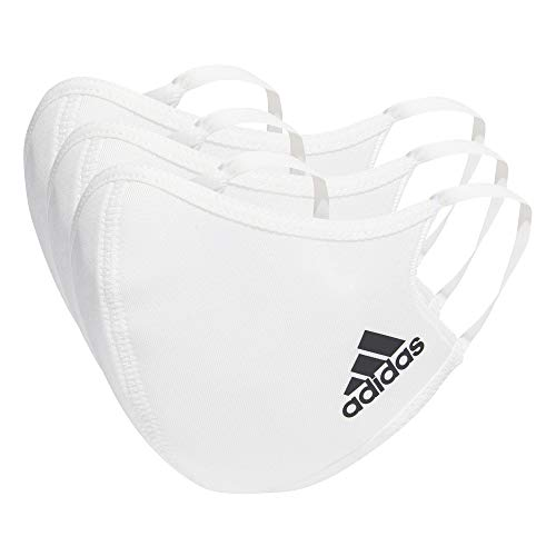 adidas Face Cover XS/S-Not For Medical Use, Unisex niños, White