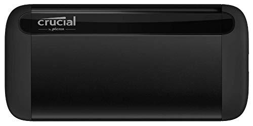 Crucial CT2000X8SSD9 X8-SSD portátil 2TB, de hasta 1050 MB/s, USB 3.2, Unidad de estado sólido...
