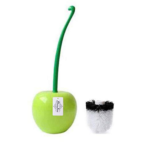 Cepillo decorativo de cerezo con soporte para inodoro con cepillo de repuesto para cepillo de...