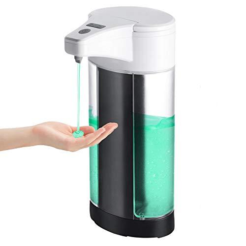 WIFORT Dispensador de Jabón Automático, 400ML Dispensador de Líquido Sin Contacto con Sensor de...