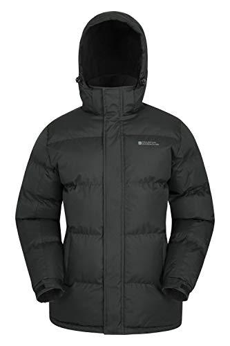 Mountain Warehouse Chaqueta de Nieve para Hombre - Impermeable, con Capucha, puños y Dobladillo...