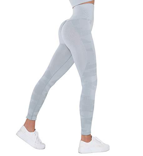 SLIMBELLE Mallas Push up Mujer Leggings Camuflaje Deportivos Pantalones de Cintura Alta de Yoga sin...