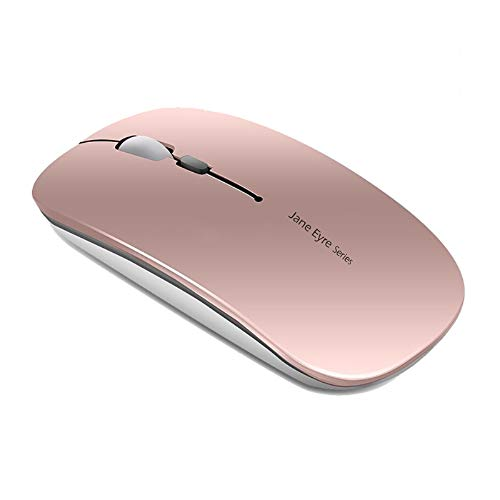 Q5 Ratón Inalámbrico Recargable, Mouse Wireless 2.4G Mute de Mouse Inalambrico, Ultra Delgado,1600...