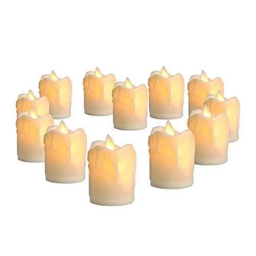 Arotelicht 12 velas LED sin llama velas LED luces de té luces de velas eléctricas parpadeantes...