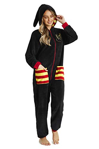 HARRY POTTER Pijamas Mujer de Una Pieza, Pijama Mujer Invierno Entero con Capucha, Merchandising...
