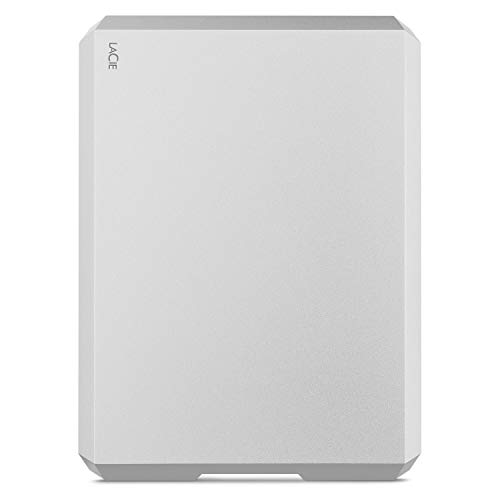 LaCie Mobile Drive, 5TB, Disco duro externo HDD portátil, USB-C, USB 3.0, Thunderbolt 3, para Mac...