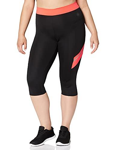 Marca Amazon - AURIQUE Contrast Panels BAL004, Mallas de entrenamiento Mujer, Multicolor...