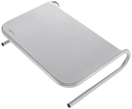 Amazon Basics - Soporte de metal para monitor, color plateado
