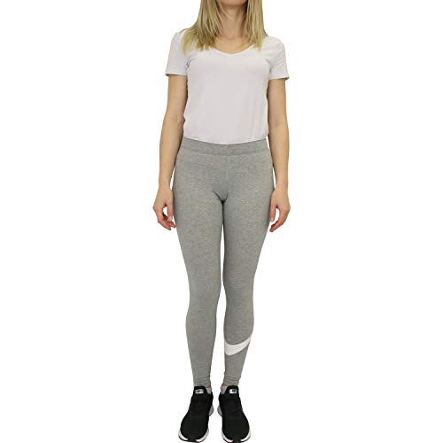 NIKE Club Logo2 Pantalón, Mujer, Multicolor (Dk Grey Heather/White/White), XS