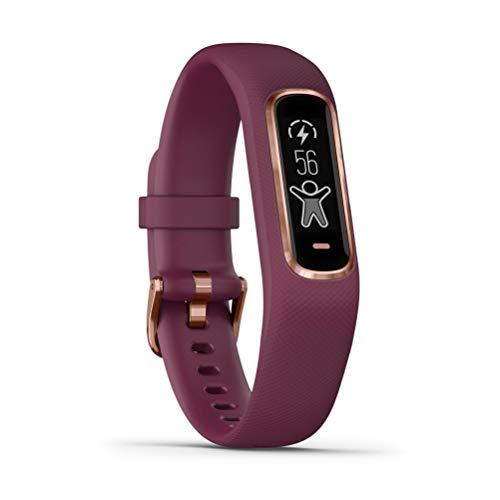 Garmin Vivosmart 4 - Pulsera de Actividad, Color Granate