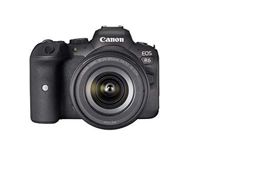 Canon - Cámara + Objetivo EOS R6 y RF 24-105mm F4-7.1 IS STM, Negro