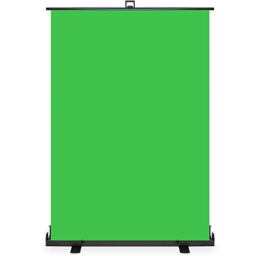 KHOMO GEAR Pantalla Verde Chroma Profesional Plegable con Base de Aluminio Transportable para Fondo...