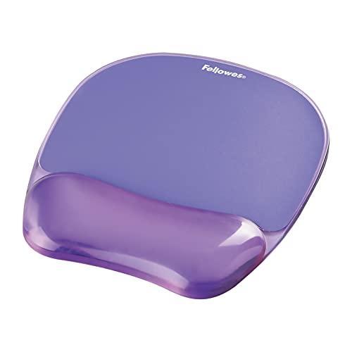 Fellowes Gel Crystals - Alfombrilla con reposamuñecas para ratón, violeta