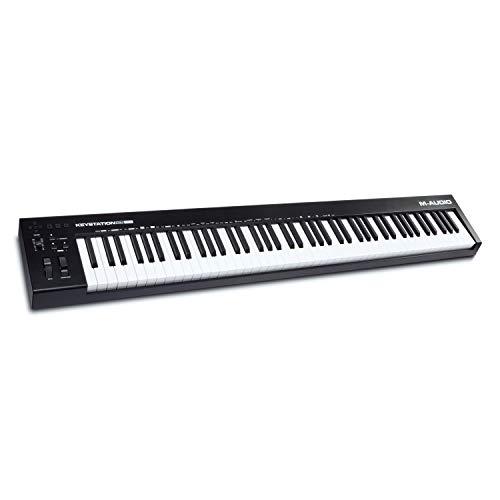 M-Audio Keystation 88 MK3 - Teclado controlador MIDI USB con 88 teclas semipesadas para manejar...