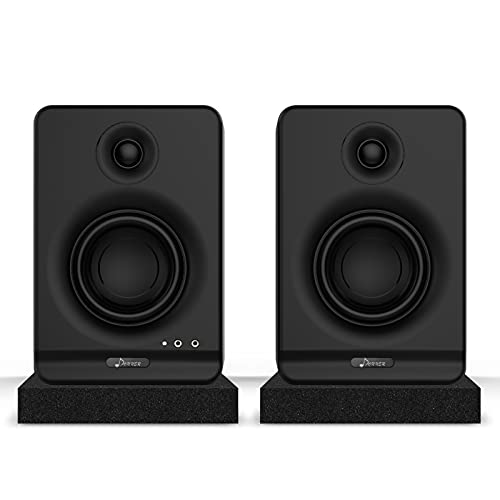 Donner 3'' Studio Monitors con CSR Profesional Bluetooth 5.0, paquete de 2 que Incluyen Almohadillas...